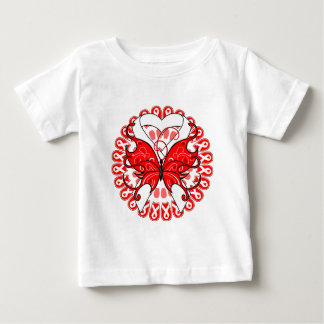 Lung Cancer Butterfly Circle of Ribbons Infant T-shirt