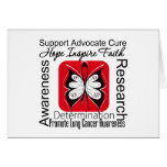 Lung Cancer Butterfly Inspirations Greeting Cards