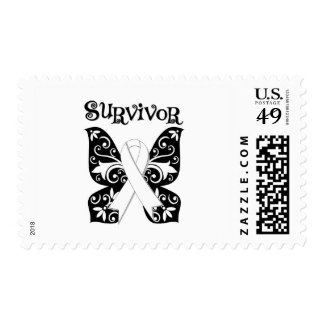 Lung Cancer Butterfly Survivor Stamps