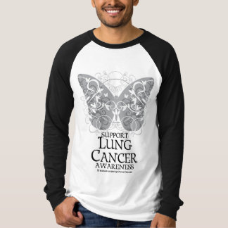 Lung Cancer Butterfly T-Shirt