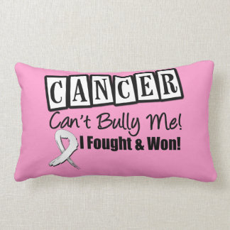 Lung Cancer Can't Bully Me...I Fought I Won Pillows