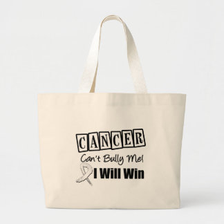 Lung Cancer Cant Bully Me I Will Win Jumbo Tote Bag