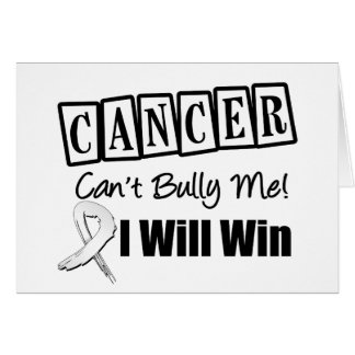 Lung Cancer Cant Bully Me I Will Win Greeting Card