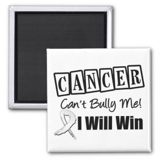 Lung Cancer Cant Bully Me I Will Win 2 Inch Square Magnet