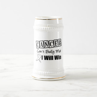 Lung Cancer Cant Bully Me I Will Win 18 Oz Beer Stein