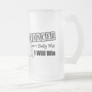 Lung Cancer Cant Bully Me I Will Win 16 Oz Frosted Glass Beer Mug