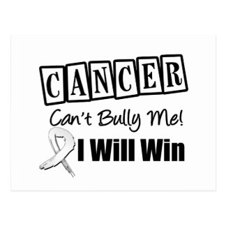 Lung Cancer Cant Bully Me I Will Win Postcard