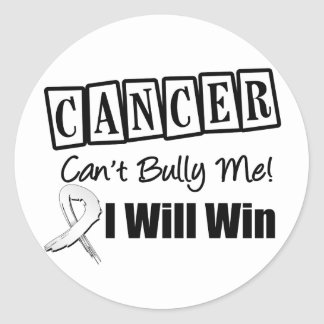 Lung Cancer Cant Bully Me I Will Win Classic Round Sticker