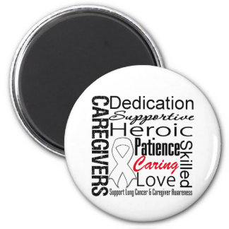 Lung Cancer Caregivers Collage 2 Inch Round Magnet