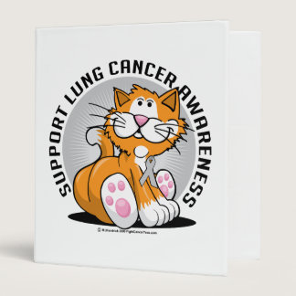 Lung Cancer Cat 3 Ring Binder