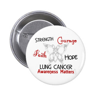 Lung Cancer Celtic Butterfly 3 Buttons
