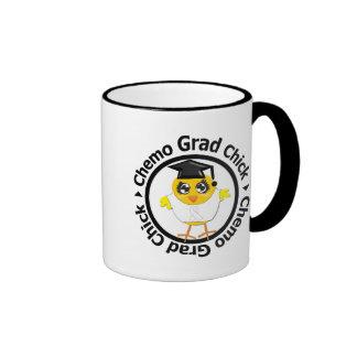 Lung Cancer Chemo Grad Chick Coffee Mugs
