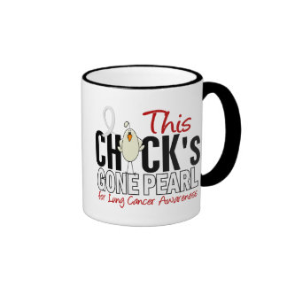 LUNG CANCER Chick Gone Pearl Coffee Mugs
