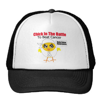 Lung Cancer Chick In the Battle to Beat Cancer Trucker Hat