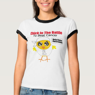 Lung Cancer Chick In the Battle to Beat Cancer T-Shirt