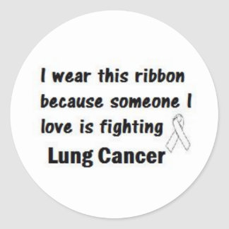 Lung Cancer Classic Round Sticker