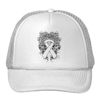 Lung Cancer - Cool Support Awareness Slogan Trucker Hat