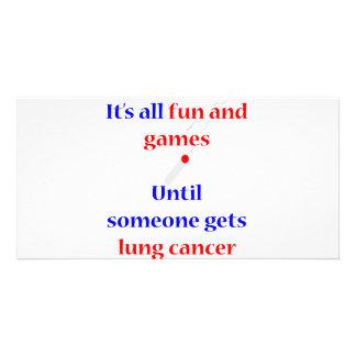 Lung Cancer Custom Photo Card