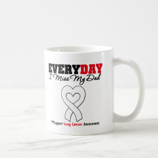 Lung Cancer Every Day I Miss My Dad Classic White Coffee Mug