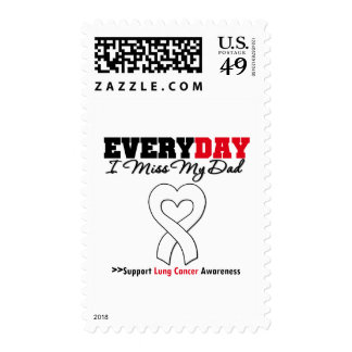 Lung Cancer Every Day I Miss My Dad Postage Stamps