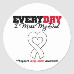 Lung Cancer Every Day I Miss My Dad Classic Round Sticker