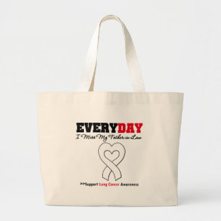 Lung Cancer Every Day I Miss My Father-in-Law Canvas Bags