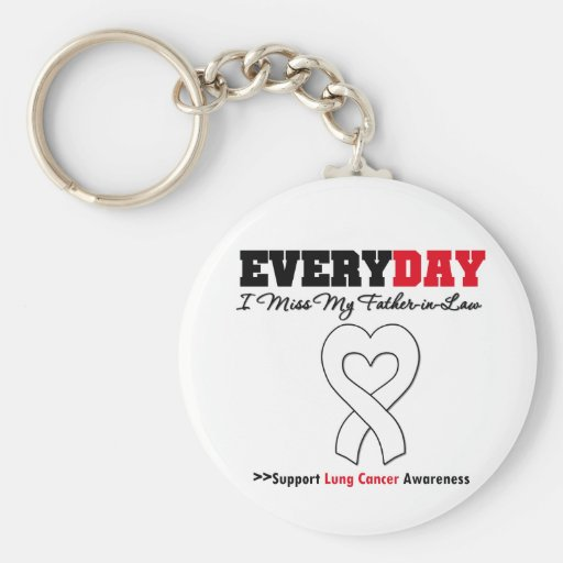 Lung Cancer Every Day I Miss My Father-in-Law Keychains