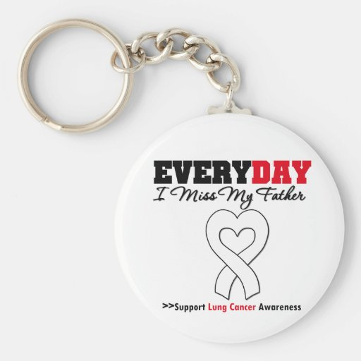 Lung Cancer Every Day I Miss My Father Keychains