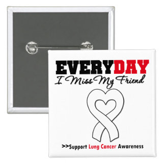 Lung Cancer Every Day I Miss My Friend Pinback Button