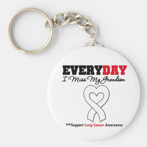 Lung Cancer Every Day I Miss My Grandson Key Chain