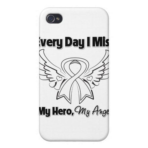 Lung Cancer Every Day I Miss My Hero iPhone 4 Case