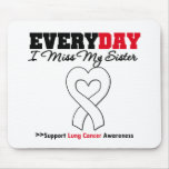 Lung Cancer Every Day I Miss My Sister Mouse Mats