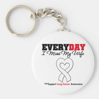 Lung Cancer Every Day I Miss My Wife Key Chains