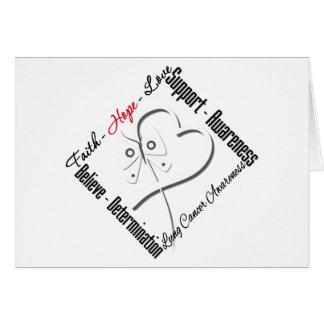 Lung Cancer Faith Hope Love Butterfly Cards