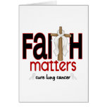 Lung Cancer Faith Matters Cross 1 Greeting Card