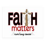 Lung Cancer Faith Matters Cross 1 Postcards