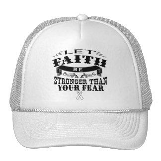 Lung Cancer Faith Stronger than Fear Trucker Hat