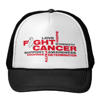 Lung Cancer Fight Collage Trucker Hat