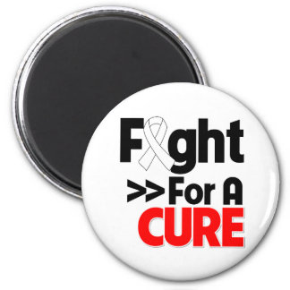 Lung Cancer Fight For a Cure Refrigerator Magnet