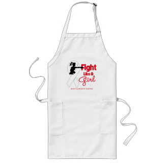 Lung Cancer Fight Like A Girl Knock Out Apron