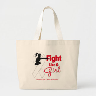 Lung Cancer Fight Like A Girl Knock Out Bag