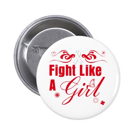 Lung Cancer Fight Like A Girl Ornate Buttons