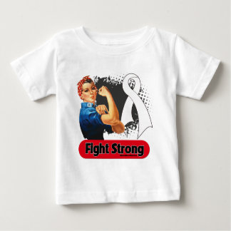 Lung Cancer Fight Strong Rosie Riveter T Shirt