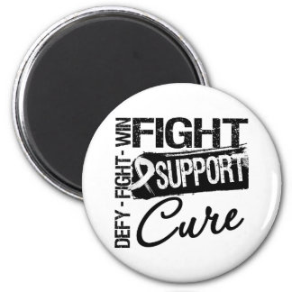 Lung Cancer Fight Support Cure Fridge Magnets