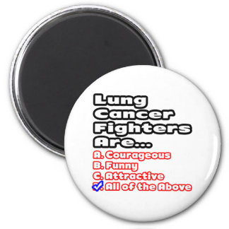 Lung Cancer Fighter Quiz Magnet