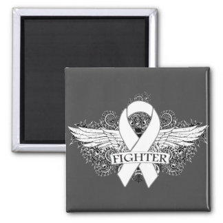 Lung Cancer Fighter Wings Fridge Magnet