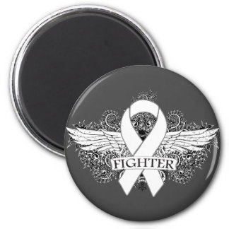 Lung Cancer Fighter Wings Magnet