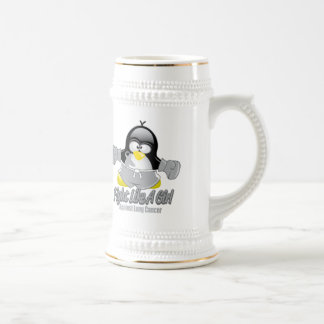 Lung Cancer Fighting Penguin Beer Stein