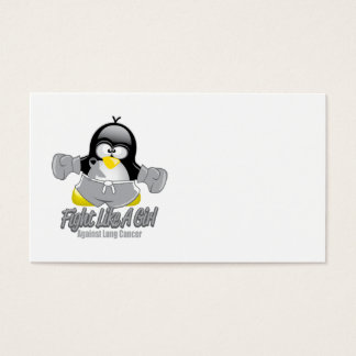 Lung Cancer Fighting Penguin Business Card