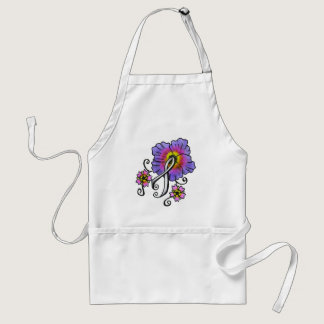 Lung Cancer Flowers Adult Apron